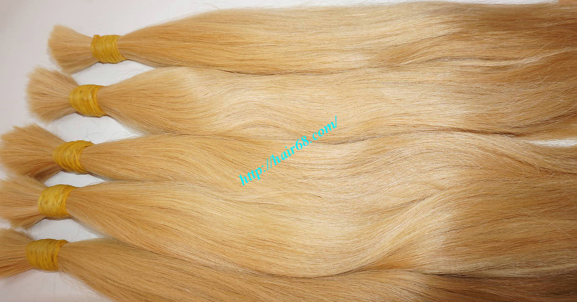 26 inch blonde hair straight double drawn 7