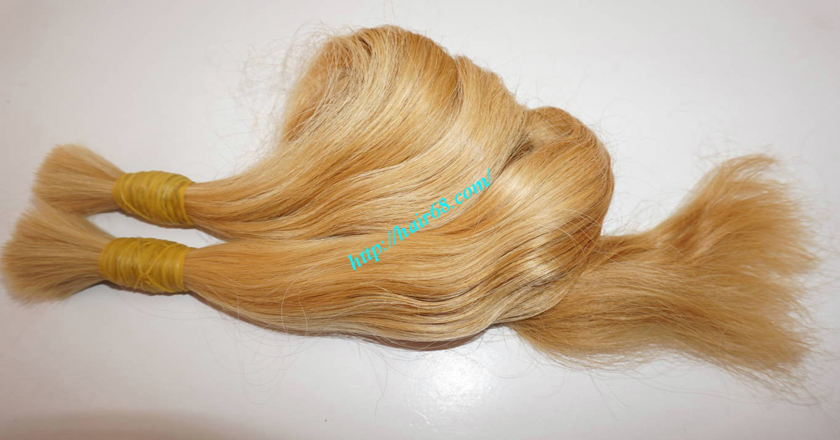 26 inch blonde hair wavy double drawn 1
