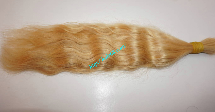 26 inch blonde hair wavy double drawn 2