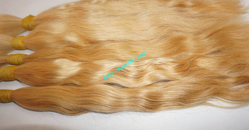 26 inch blonde hair wavy double drawn 3