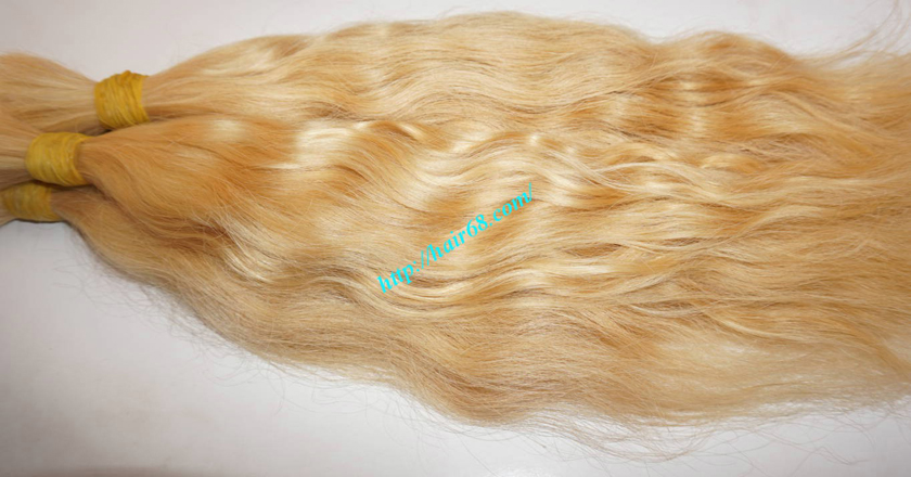 26 inch blonde hair wavy double drawn 4