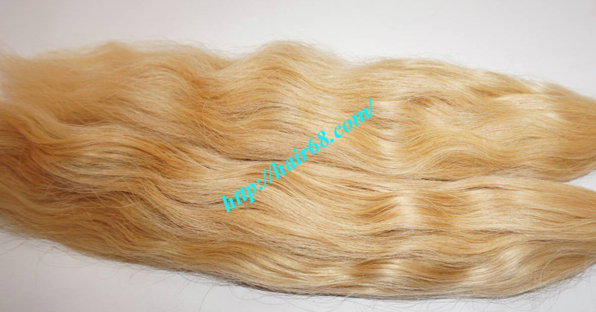 26 inch blonde hair wavy single drawn 1