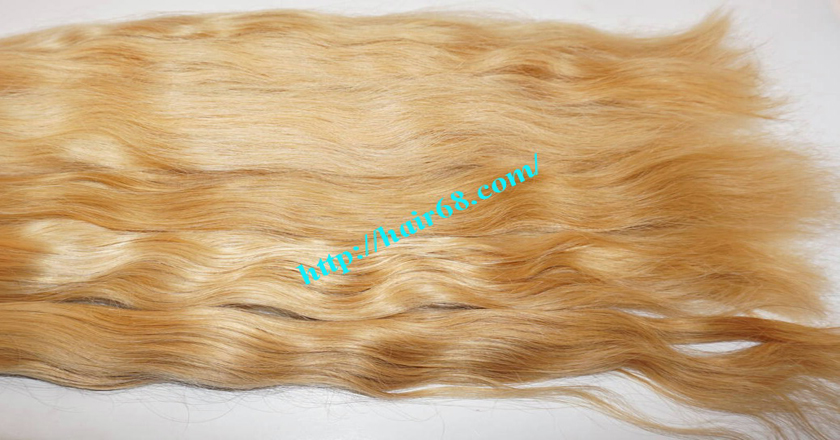 26 inch blonde hair wavy single drawn 2