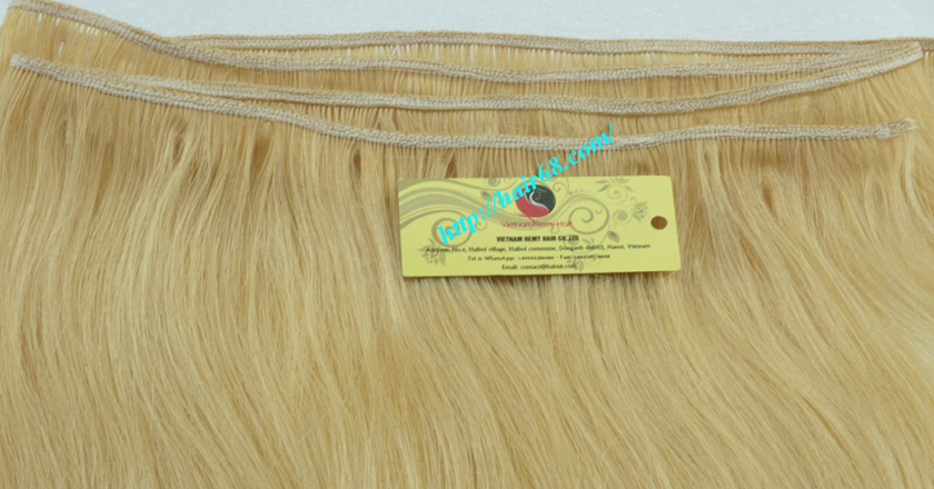 26 inch blonde weave hair straight remy hair 2