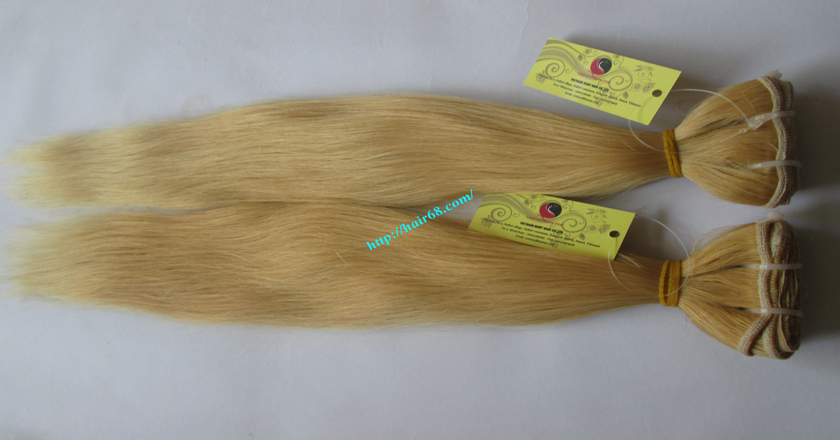 26 inch blonde weave hair straight remy hair 5
