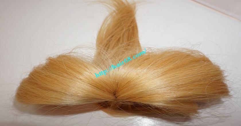 28 inch blonde hair straight single drawn 1