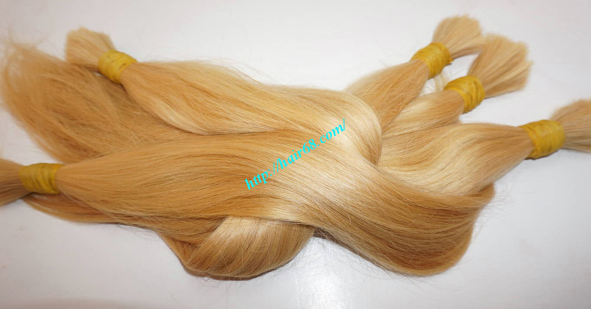 28 inch blonde hair straight single drawn 4