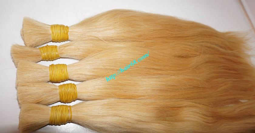 28 inch blonde hair straight single drawn 7