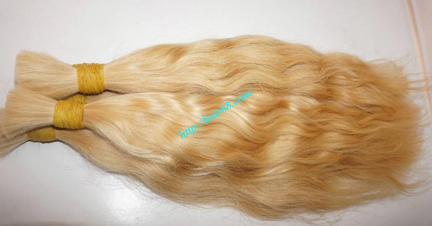 28 inch blonde hair wavy double drawn 1