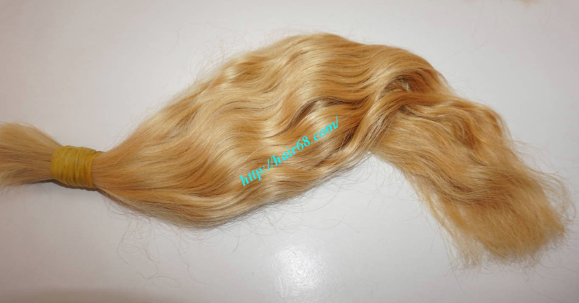 28 inch blonde hair wavy double drawn 2