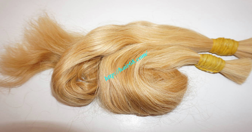 28 inch blonde hair wavy double drawn 3