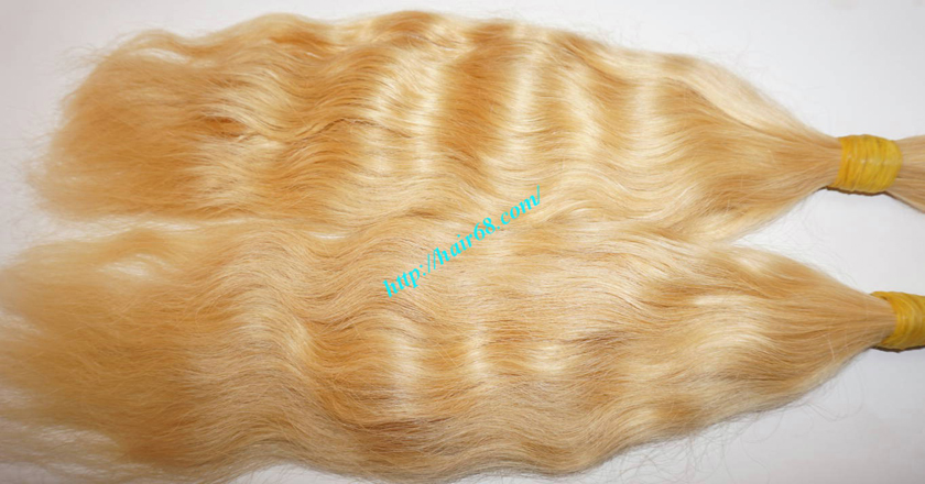 28 inch blonde hair wavy double drawn 4