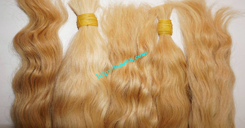 28 inch blonde hair wavy single drawn 1
