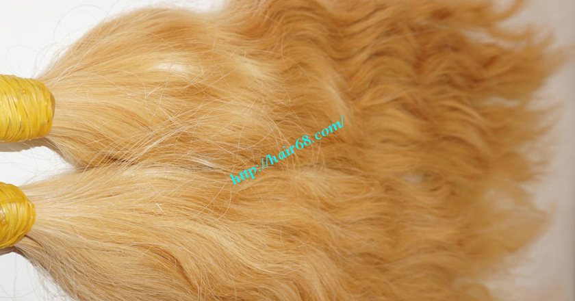 28 inch blonde hair wavy single drawn 2