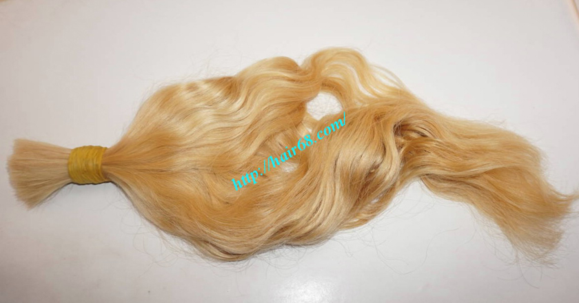 28 inch blonde hair wavy single drawn 3