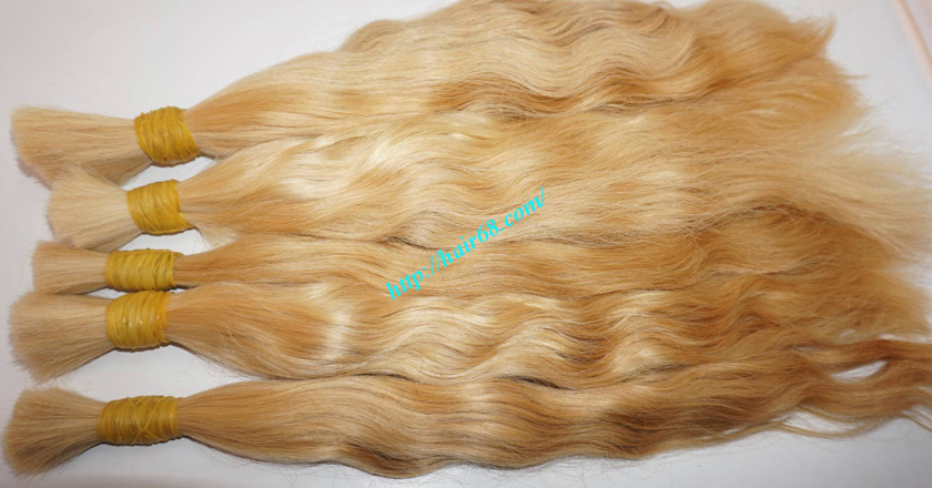 28 inch blonde hair wavy single drawn 4