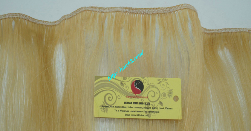 28 inch blonde weave hair straight remy hair 2