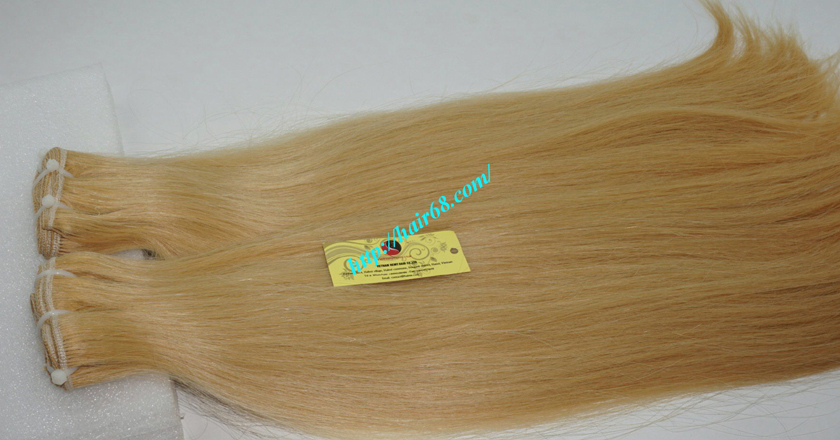28 inch blonde weave hair straight remy hair 6
