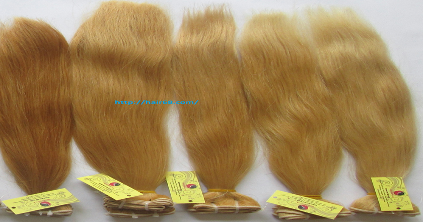 28 inch blonde weave hair straight remy hair 7