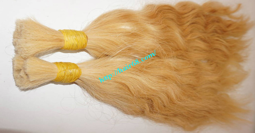 30 inch blonde hair wavy double drawn 1