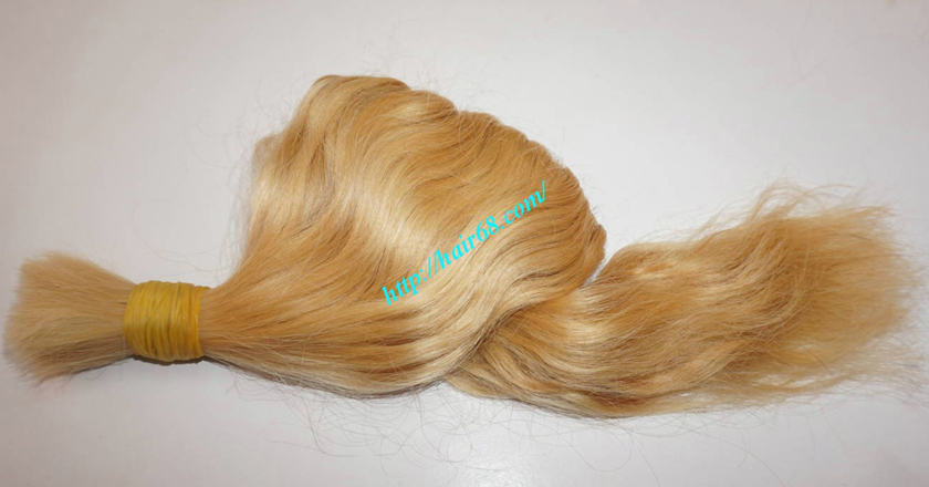 30 inch blonde hair wavy double drawn 2