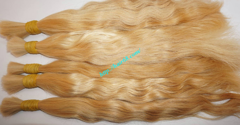 30 inch blonde hair wavy double drawn 3