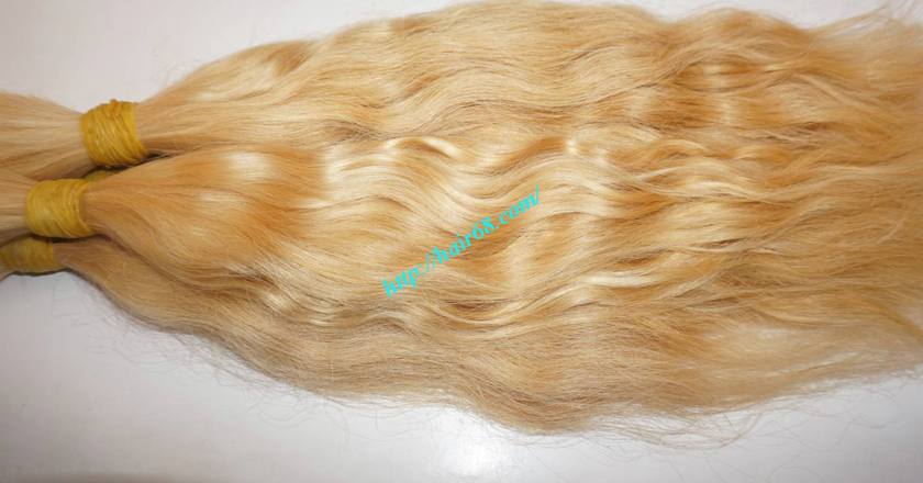 30 inch blonde hair wavy double drawn 4