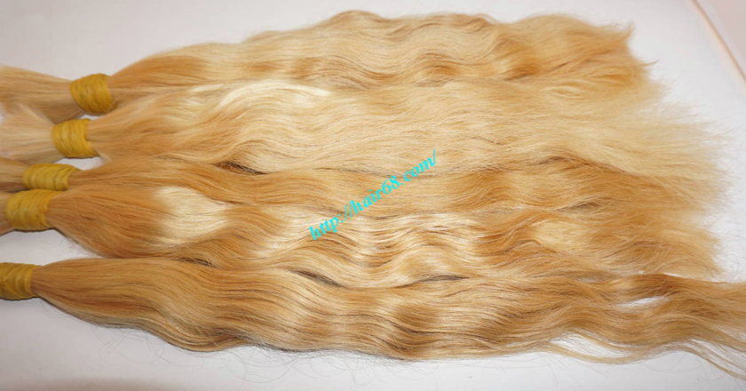30 inch blonde hair wavy single drawn 3