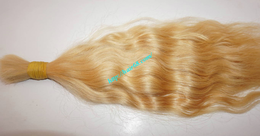30 inch blonde hair wavy single drawn 4