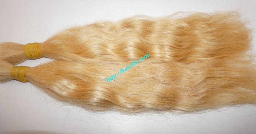 32 inch blonde hair wavy double drawn 3