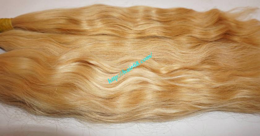 32 inch blonde hair wavy double drawn 4