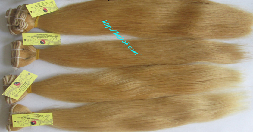 32 inch blonde weave hair straight remy hair 10