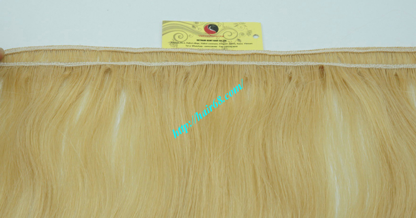 32 inch blonde weave hair straight remy hair 2