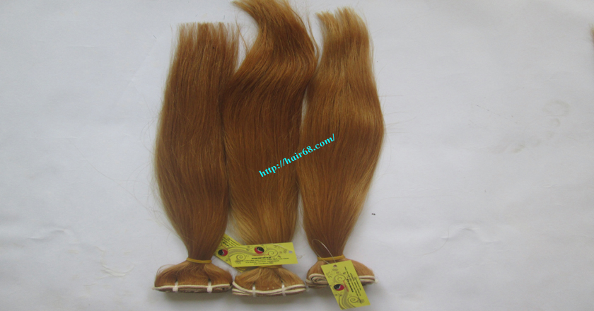 32 inch blonde weave hair straight remy hair 5