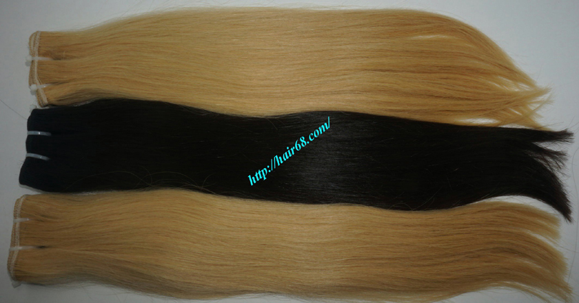 32 inch blonde weave hair straight remy hair 7
