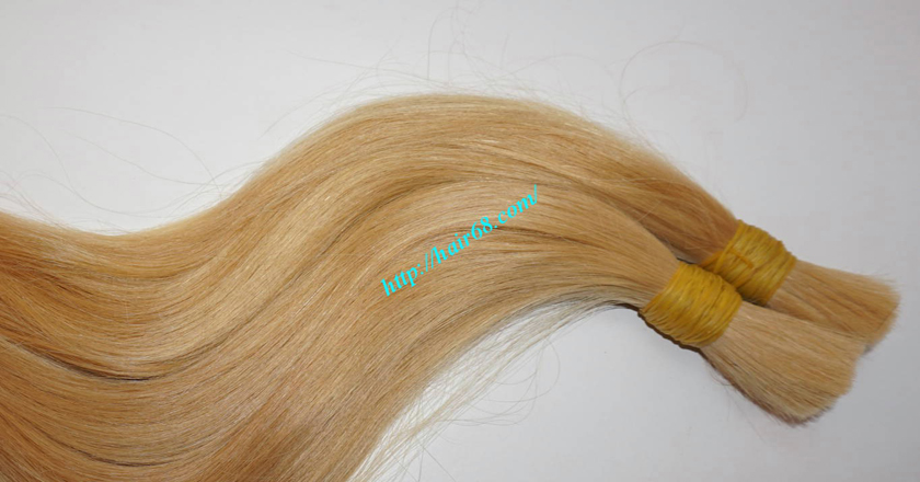 8 inch blonde hair straight double drawn 1