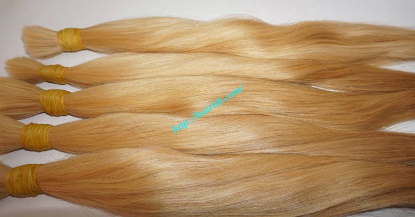 8 inch blonde hair straight double drawn 2