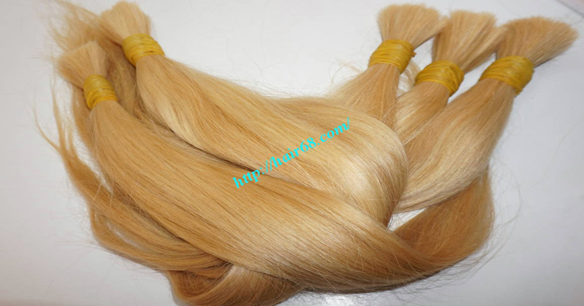 8 inch blonde hair straight double drawn 3