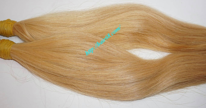 8 inch blonde hair straight double drawn 4