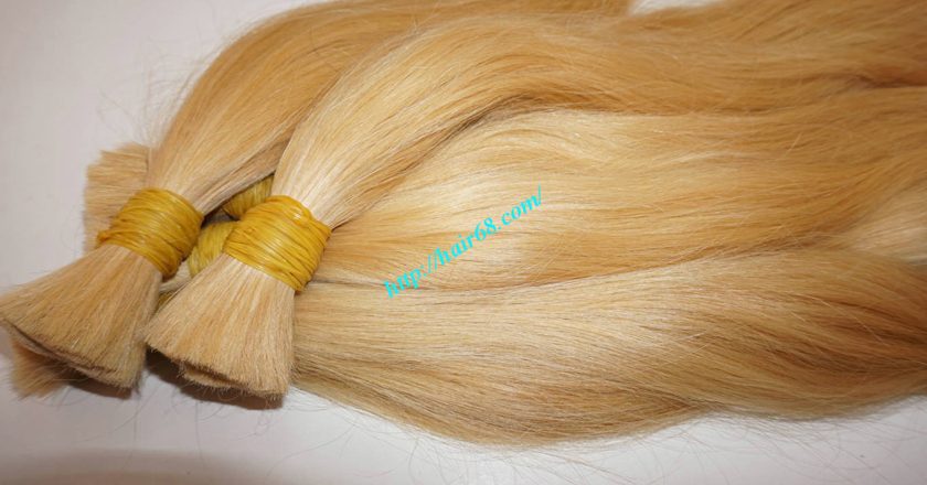 8 inch blonde hair straight double drawn 5