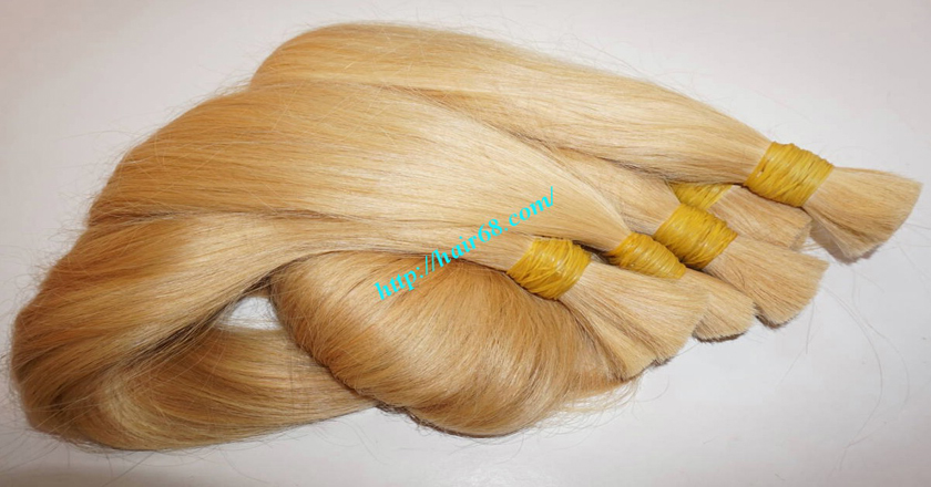 8 inch blonde hair straight double drawn 6