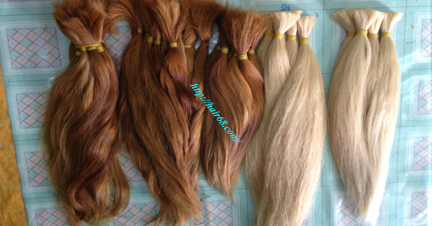 8 inch blonde hair straight double drawn 7