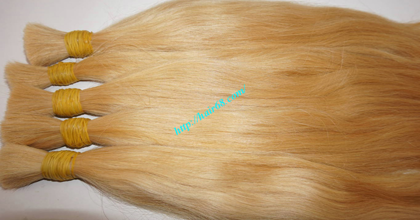 8 inch blonde hair straight double drawn 8