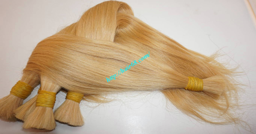 8 inch blonde hair straight double drawn 9