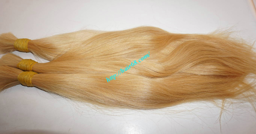 8 inch blonde hair straight single drawn 1