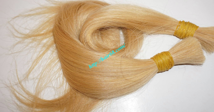 8 inch blonde hair straight single drawn 2
