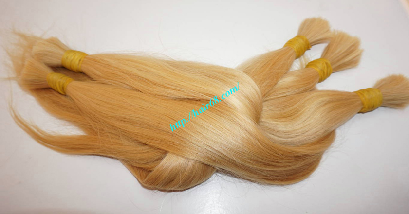 8 inch blonde hair straight single drawn 3