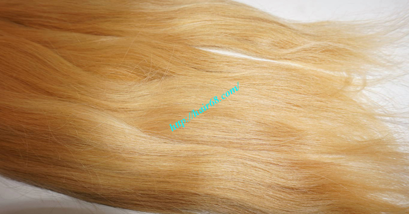 8 inch blonde hair straight single drawn 4