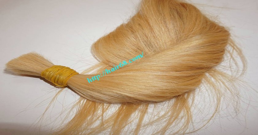 8 inch blonde hair straight single drawn 5