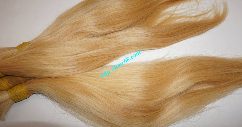 8 inch blonde hair straight single drawn 6